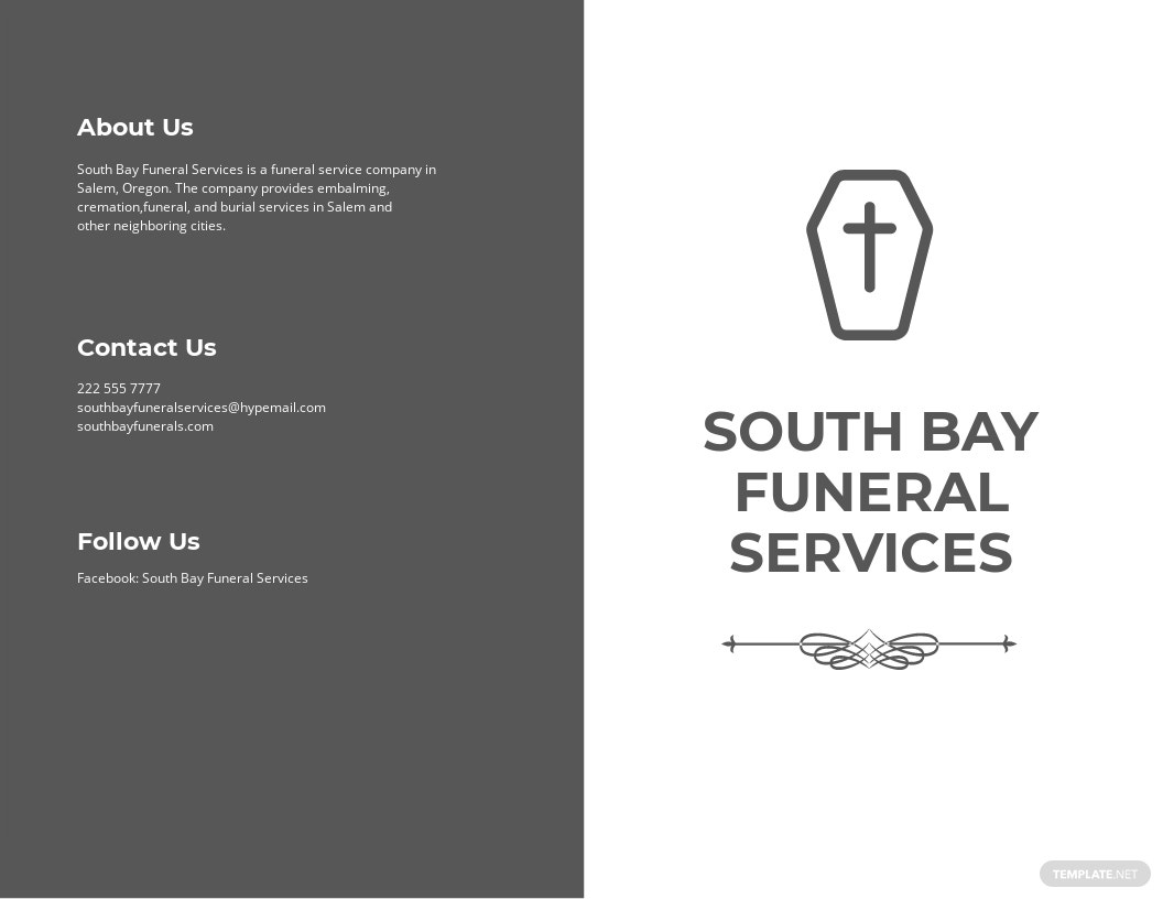 Simple Funeral Service Bi Fold Brochure Template.jpe