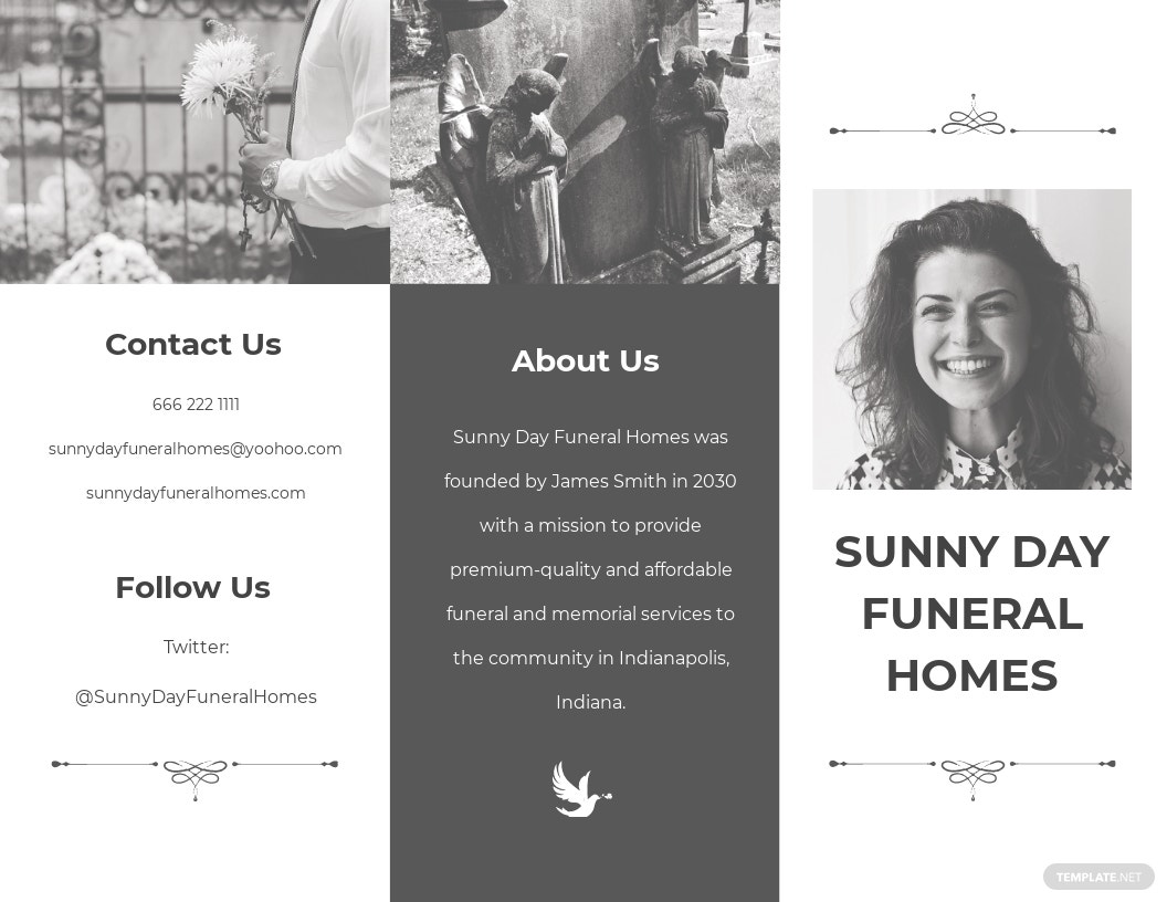 Simple Funeral Service Tri Fold Brochure Template.jpe
