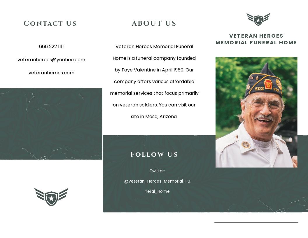 Veteran Funeral Memorial Tri Fold Brochure Template.jpe