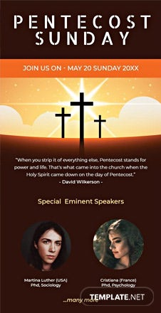 Pentecost Sunday Email Newsletter Template