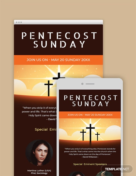 Free Pentecost Sunday Email Newsletter Template