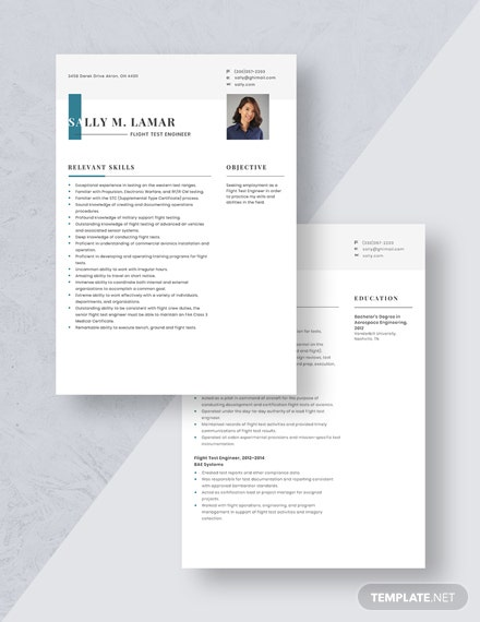 Flight Test Engineer Resume Download