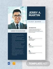 Float Nurse Resume Template
