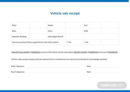 free car sale receipt template download 74 receipts in word excel