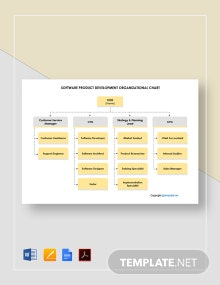 Free Software Product Development Organizational Chart Template