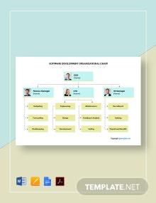 Free Software Development Organizational Chart Template