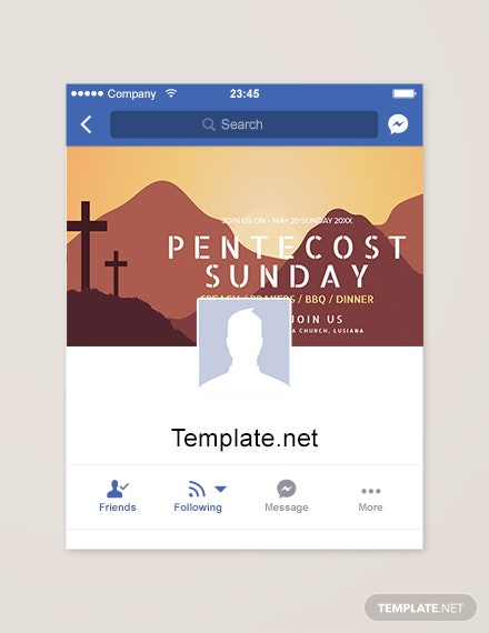 Free Pentecost Sunday Facebook App Cover Template
