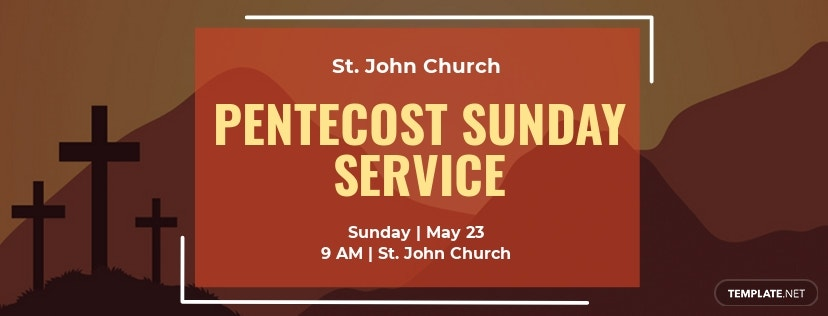 Free Pentecost Sunday Facebook App Cover Template