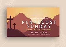 Pentecost Sunday Facebook App Cover Template
