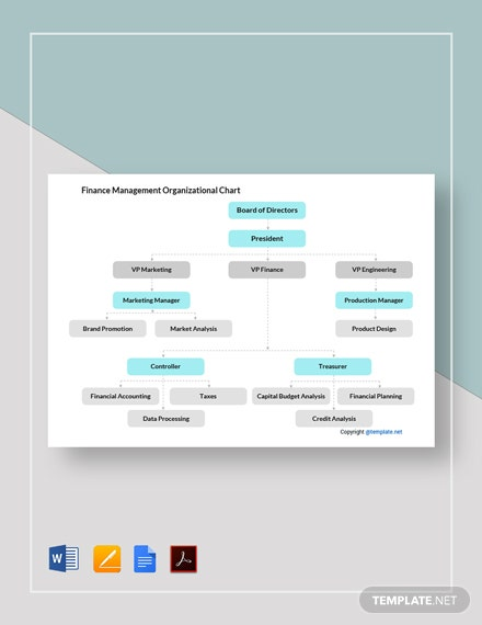 Free Finance Management Organizational Chart Template