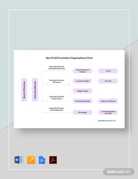 NonProfit Foundation Organizational Chart