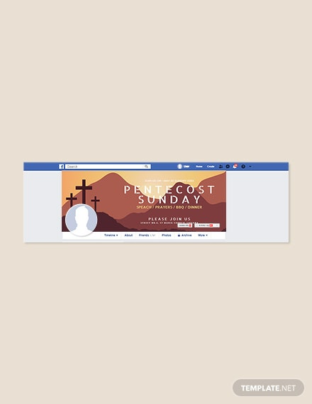 Free Pentecost Sunday Facebook Cover Template