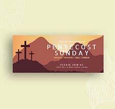 Pentecost Sunday Facebook Cover Template