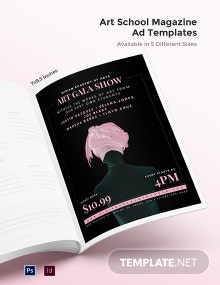 Free Art School Magazine Ads Template