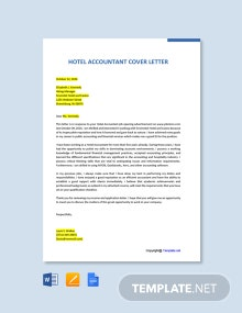 Free Hotel Accountant Cover Letter Template