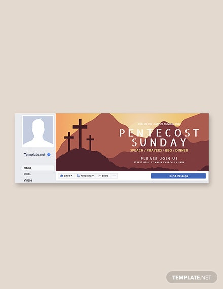 Free Pentecost Sunday Facebook Event Cover Template