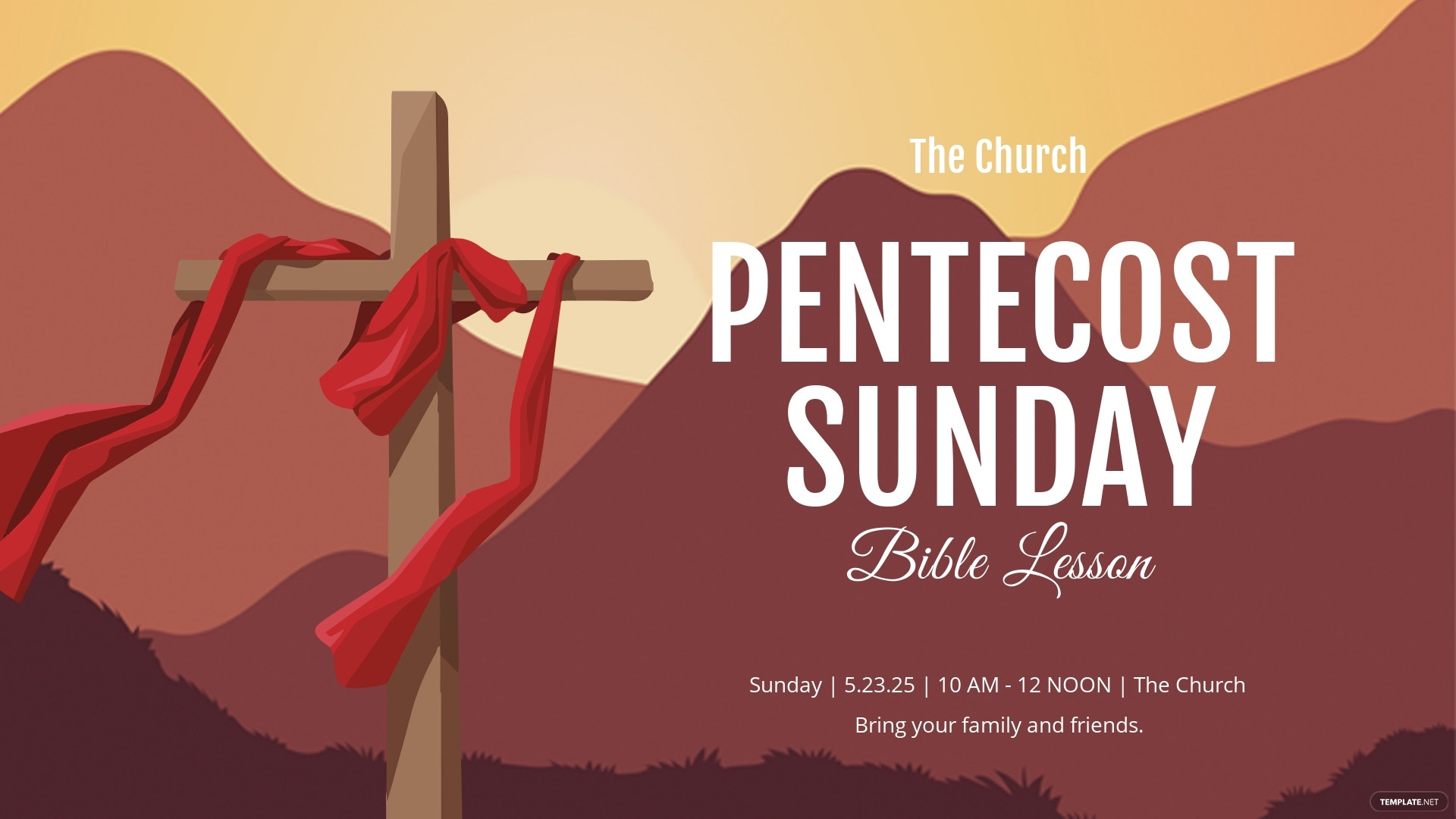 Pentecost Sunday Facebook Event Cover Template