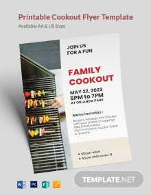 Printable Cookout Flyer Template