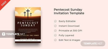 Pentecost Sunday Invitation Template
