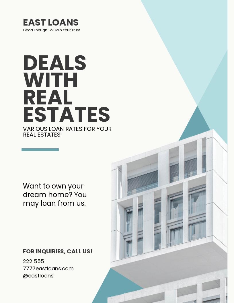 Free Sample Mortgage Lender Flyer Template