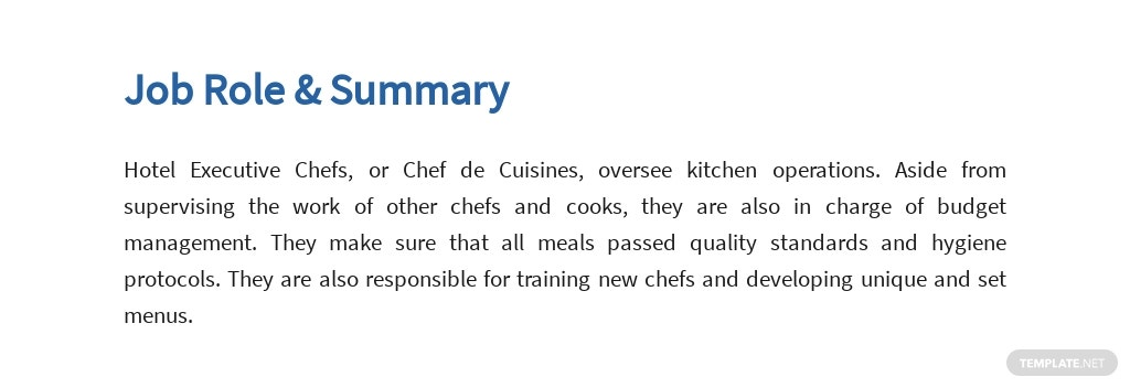 Free Hotel Executive Chef Job Ad/Description Template 2.jpe