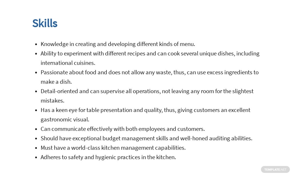 Free Hotel Executive Chef Job Ad/Description Template 4.jpe