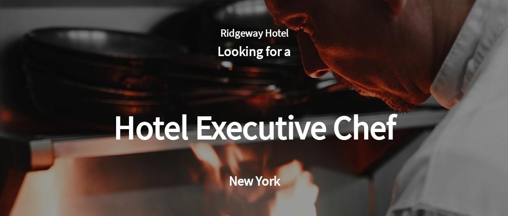 Free Hotel Executive Chef Job Ad/Description Template.jpe