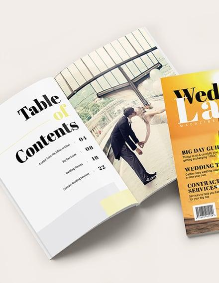 Basic Wedding magazine Template