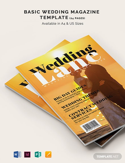 Basic Wedding magazine Template