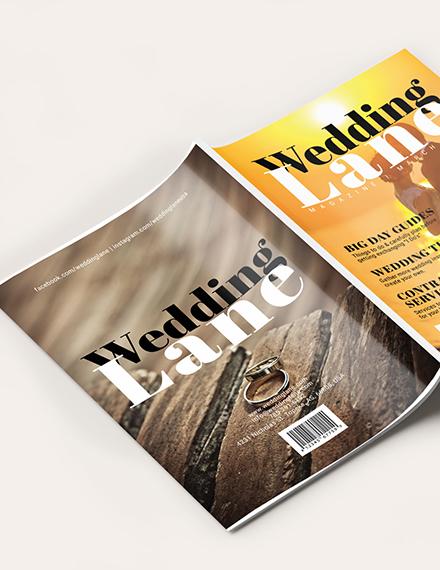 Sample Basic Wedding magazine