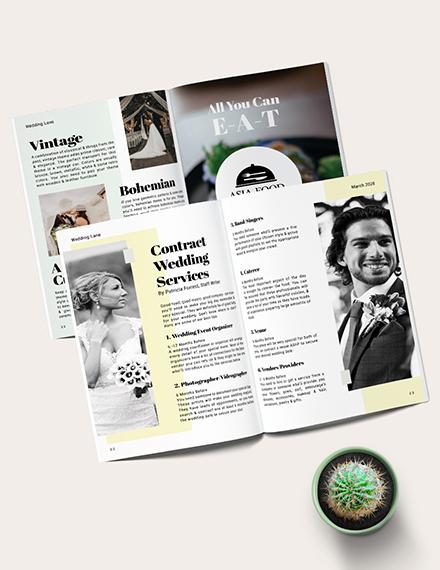 Simple Basic Wedding magazine