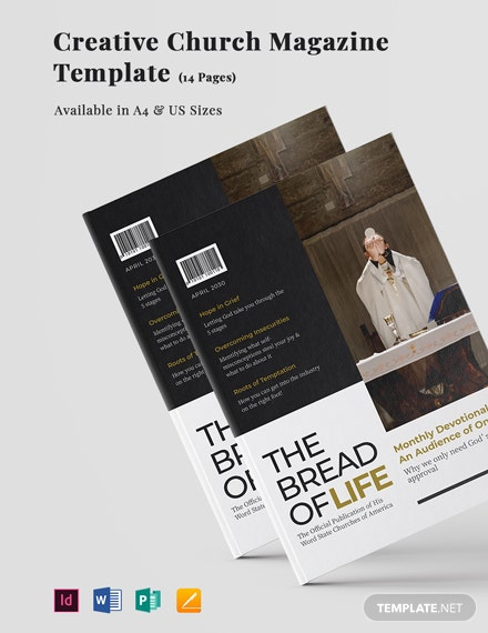 Creative Church Magazine Template