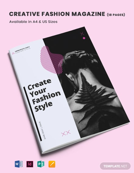 Creative Fashion & Lifestyle Magazine Template