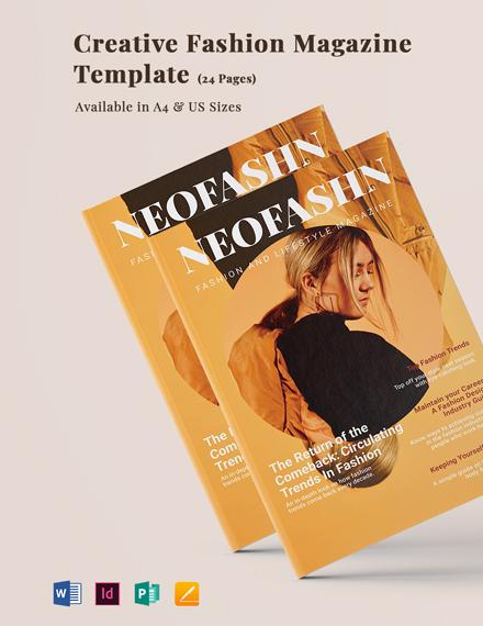 Elegant Fashion Magazine Template