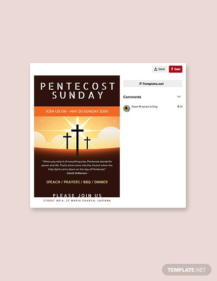 Free Pentecost Sunday Pinterest Pin Template