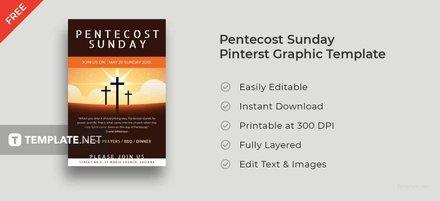 Pentecost Sunday Pinterest Pin Template