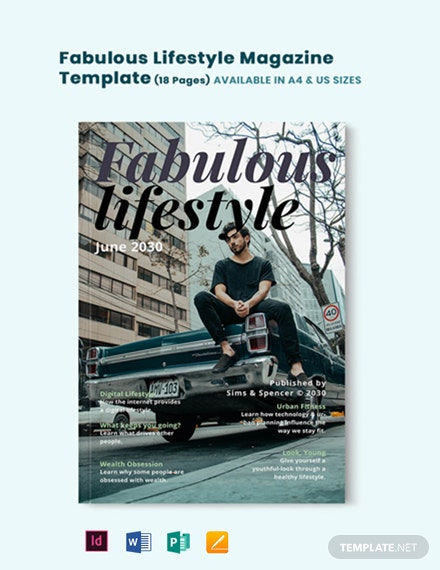 Fabulous Lifestyle Magazine Template