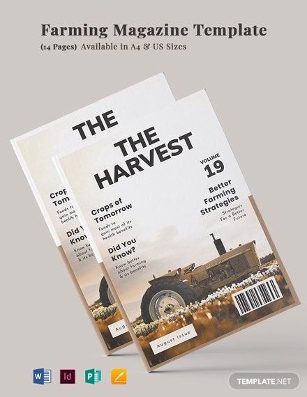 Farming Magazine Template