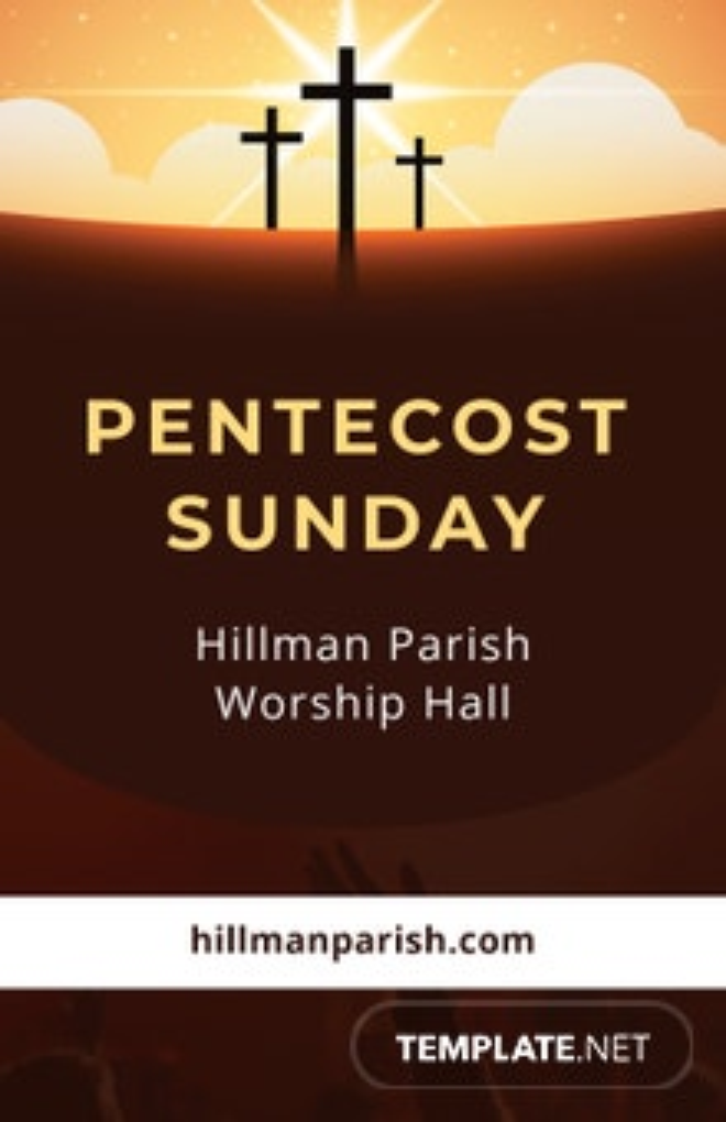 Free Pentecost Sunday Poster Template