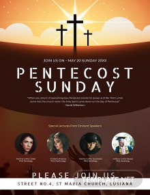 Free Pentecost Sunday Poster Template