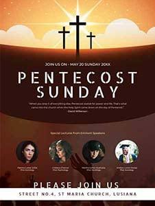 Pentecost Sunday Poster Template