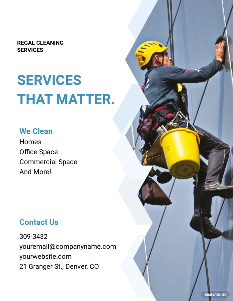 Commercial Cleaning Flyer Template