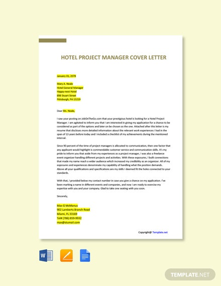 Free Hotel Project Manager Job Ad/Description Template