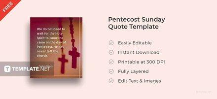 Pentecost Sunday Quote Template