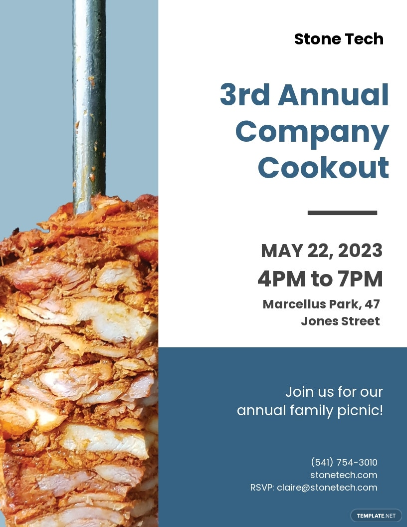 Company Cookout Flyer Template