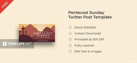 Pentecost Sunday Twitter Post Template