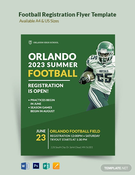 Football Registration Flyer Template