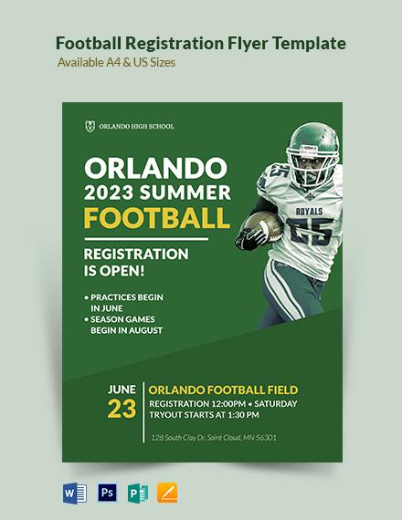 Football Registration Flyer Template