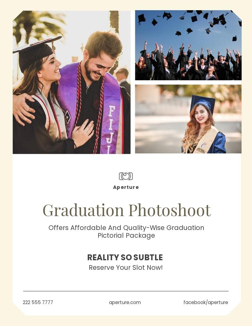 Graduation Photography Flyer Template