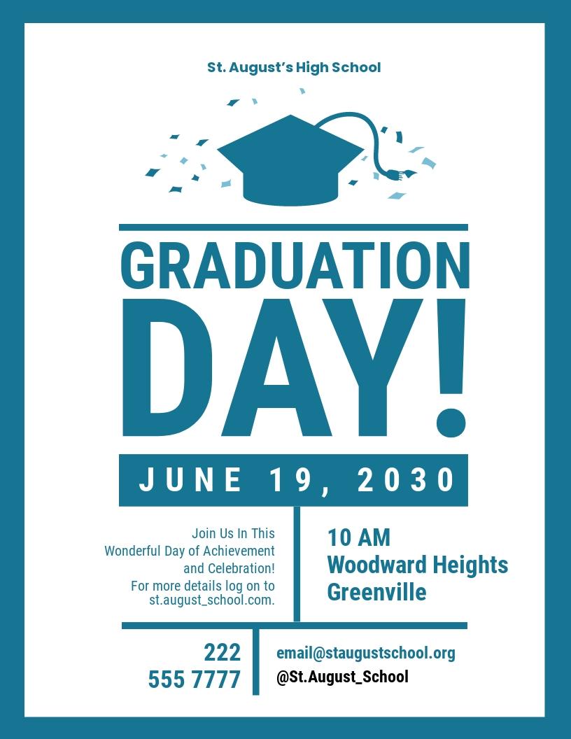 High School Graduation Flyer Template
